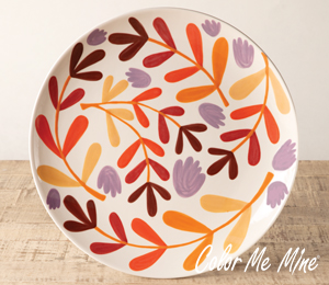 Daly City Fall Floral Charger