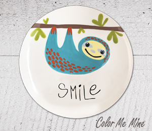 Daly City Sloth Smile Plate