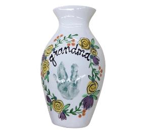 Daly City Floral Handprint Vase